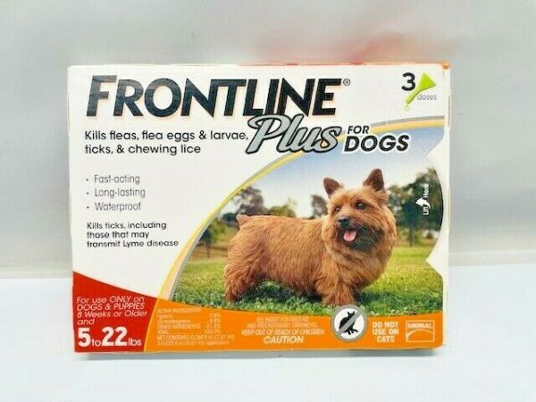 Frontline Plus Flea and Tick Control For 5 22 lb Dogs 3 Month supply $26.25