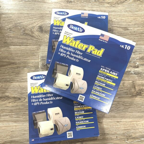 BestAir A10 Furnace Humidifier Evaporator Replacement Water Pad Filter Lot Of 3 $19.99