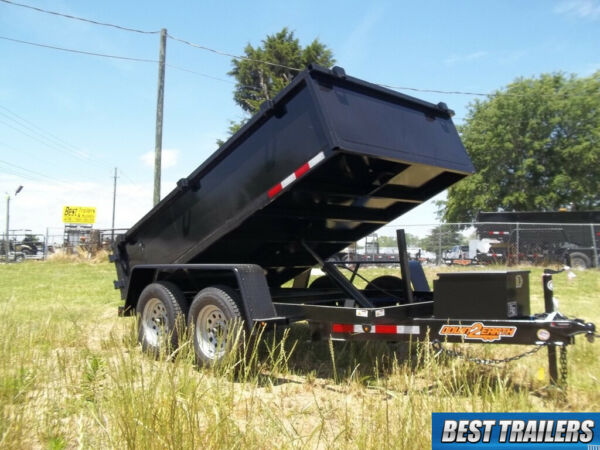 2021 down to earth 6 x 10 7k low pro dump trailer 2 ft sides utility power up do $6595.00