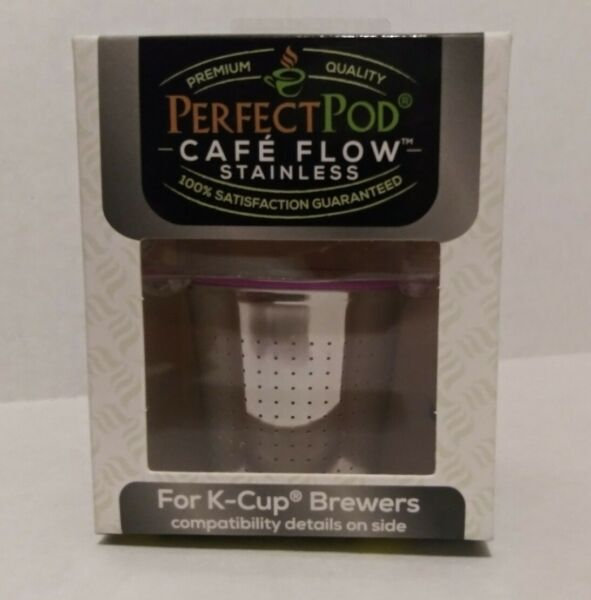 Cafe Flow Stainless Steel by Perfect Pod Reusable K Cup for Keurig Coffee Maker