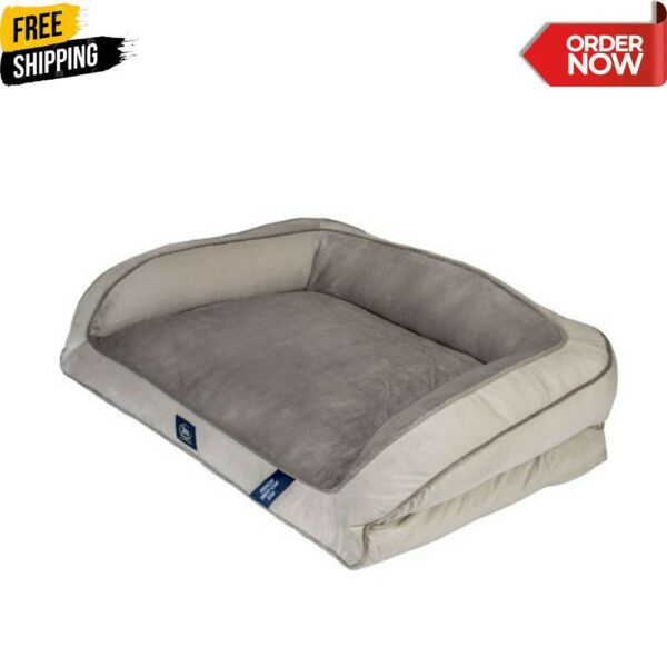 Serta Extra Large Dog Memory Foam Couch Foam Fill Plush Sleep Surface Pet Bed $55.58