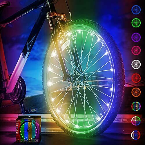 Activ Life Bicycle Spoke Lights 1 Tire Color Changing Bike Accessories for Ki... $20.90