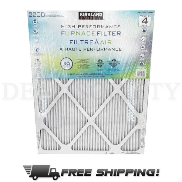 High Performance Furnace Filter 2200 4 Pack 20x25x1 Inch Size $39.99