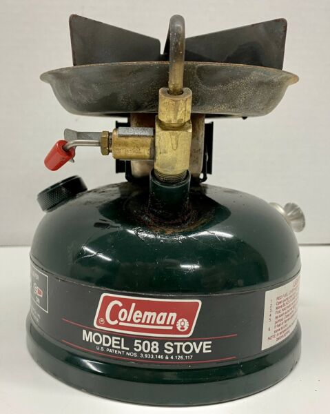 Vintage Coleman Model 508 Single Burner Gas Stove with Carrying Case Please Read $59.95
