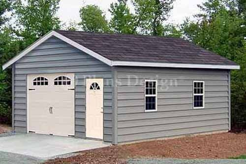 18 x 28 Car Garage / Workshop Shed Building Plans, Material List Included #51828