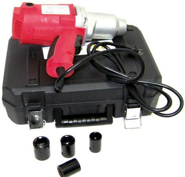 1 2quot; Electric Impact Wrench Gun Set w Case amp; Sockets Driver