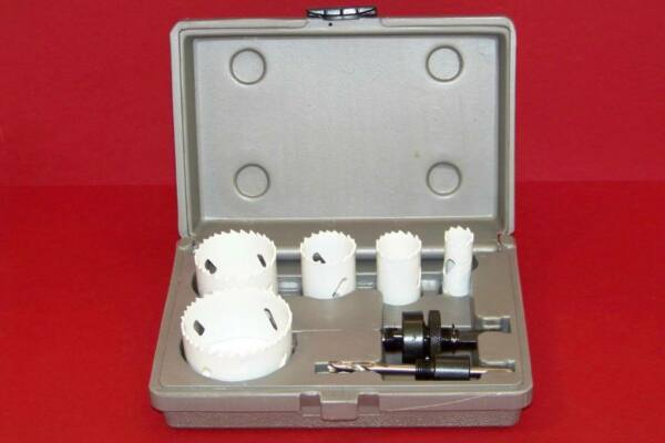 7pc BI-METAL HSS METAL HOLE SAW TOOLS SET CUTTING PLUMBING