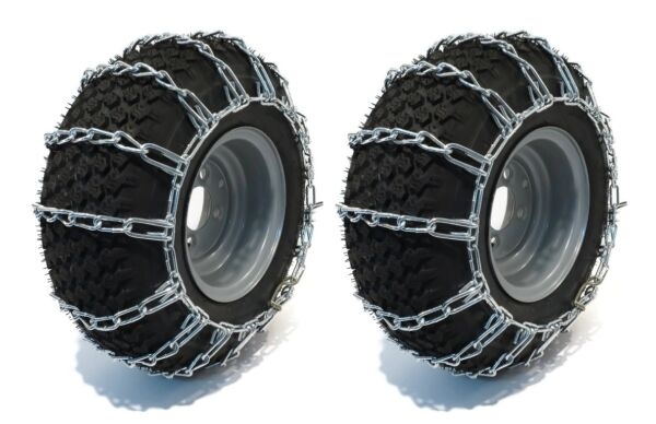 TIRE CHAINS for John Deere 312 317 318 322 332 Tractor Mower Snow Blower 2 Link