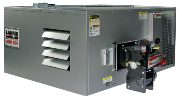 Waste Oil HeaterFurnace Lanair MXD200 DUCTABLE with tank and chimney kit SALE!!