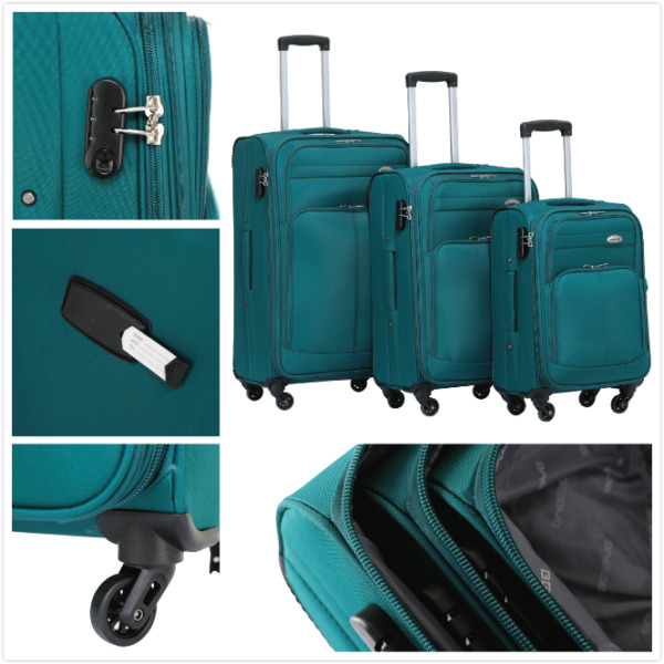 REISEKOFFER KOFFERSET TROLLEY KOFFER 8005- M(Boardcase)--L--XL--Set in 6 Farben