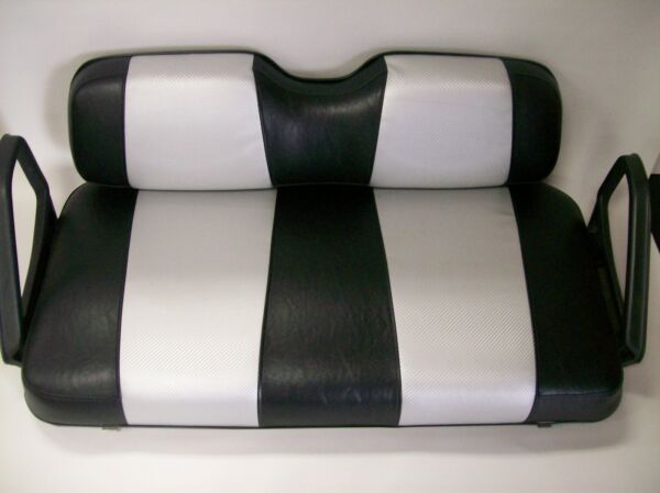 EZ GO TXT Golf Cart Front Seat Replacement amp; Custom Covers Set Black Silver CF $259.99