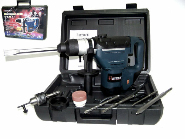 1 1 2quot; ELECTRIC ROTARY HAMMER DRILL WITH BITS SDS PLUS ROTO TOOL 1.5 HP