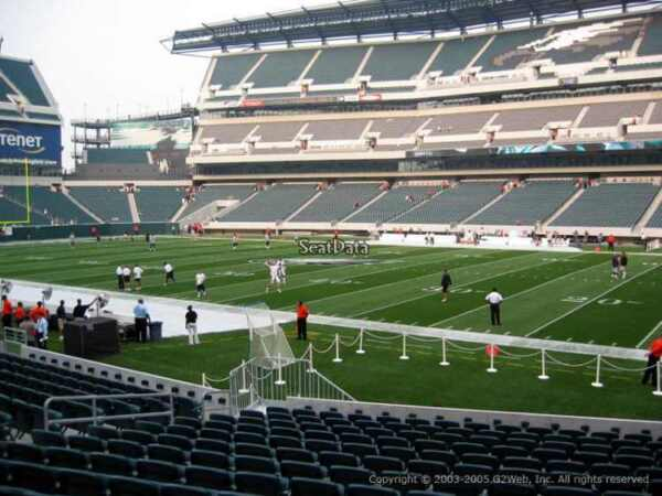 4 PHILADELPHIA EAGLES SBL PSL SEASON TICKETS RIGHTS sec 104 row 12 AISLE of 103