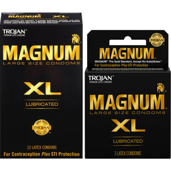 Trojan Magnum XL Extra Large Lubricated Condoms - Choose Quantity