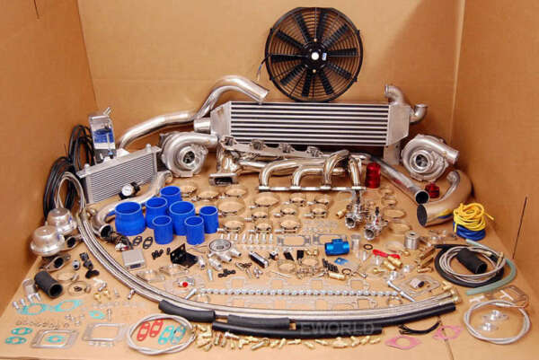 1000HP 1979 - 1993 FORD MUSTANG Twin Turbo Kit Package TT 260 289 302 351 5.0 5L
