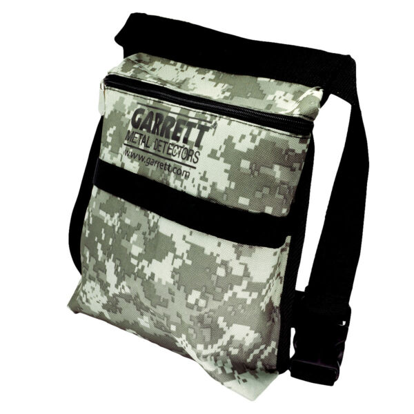 Garrett Camo Canvas Metal Detecting Finds Recovery Bag Pouch + Belt #1612900