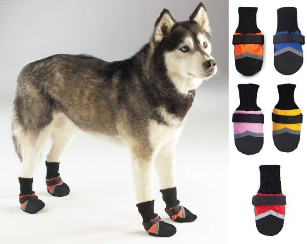 Dog Boots Regular or Fleece Lined All Weather Water Repellent Booties Shoes Pet