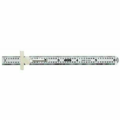 General Tools 300/1 Six (6) Inch Stainless Steel Pocket Ruler w/ Depth Gauge