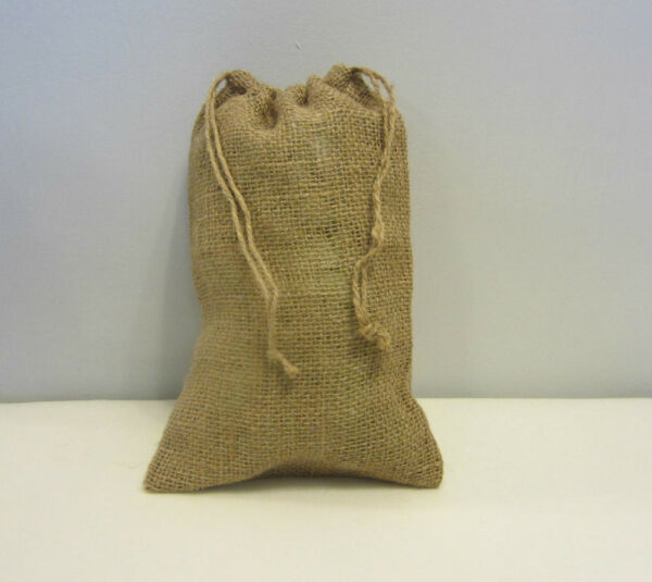 ONE BURLAP BAG 8quot; X 12quot; WITH DRAWSTRING SACK GUNNY FEED BAG TOW SACK GIFT