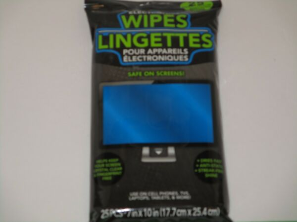 Electronic Wipes Safe On Screens Cleans Cell Phones Tablets Computers amp; TV#x27;s $6.00
