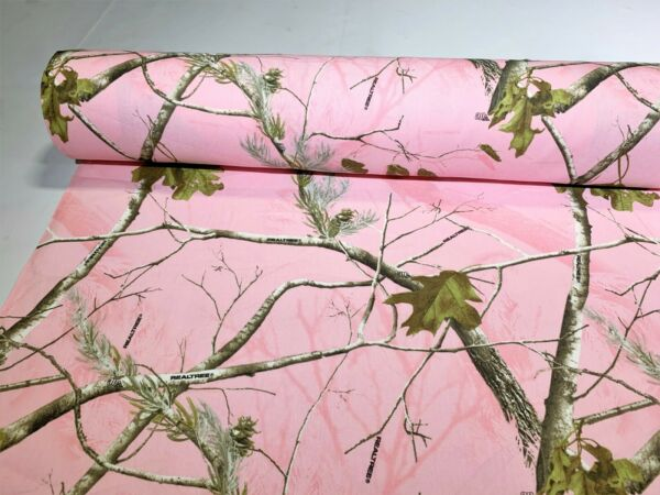 Ladies Pink MC2 Camo Cotton Poly Water Repellant Twill Fabric 60quot; Camouflage