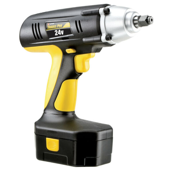 Trades Pro 24 Volt Cordless Impact Wrench, 1/2