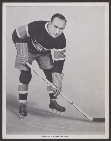 1933-34 V357-2 WORLD WIDE ICE KINGS PREMIUMS ~ HOWIE MORENZ ~ MONTREAL CANADIENS