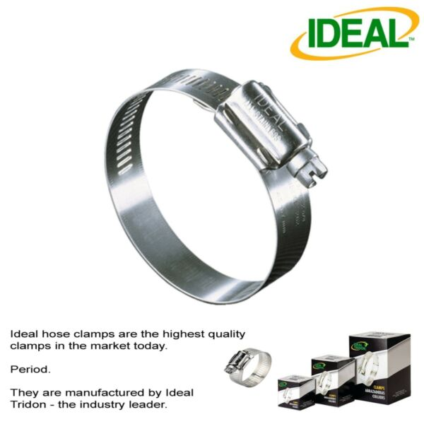IDEAL Box of 10 Tridon Hose Clamps Size #32  38-63mm 1-12 - 2-12