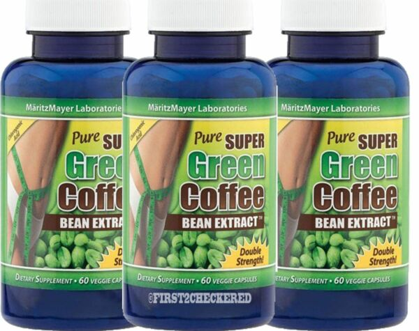 3X Pure SUPER Green Coffee Bean Extract Weight Loss 800 mg Chlorogenic Acid diet