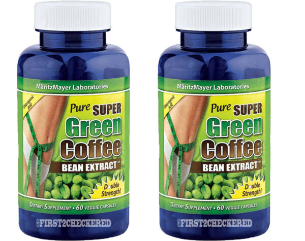 2X Pure SUPER Green Coffee Bean Extract Weight Loss 800 mg Chlorogenic Acid diet