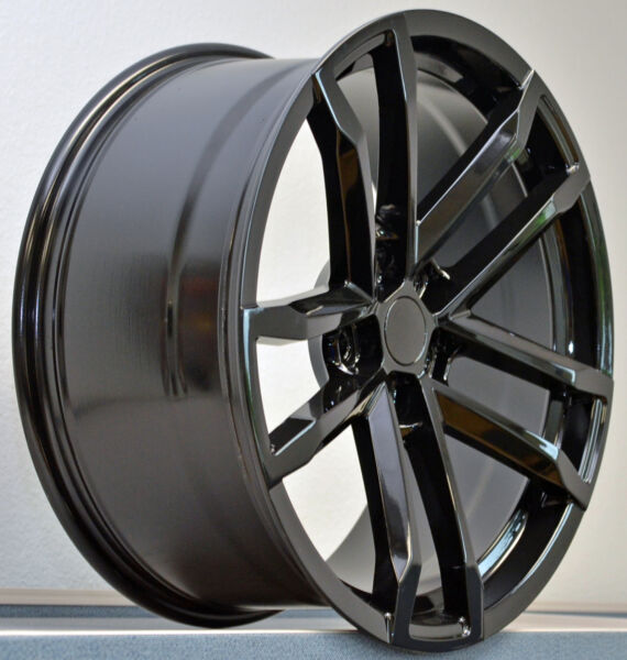 4) 20x9 Tires Package Gloss Black Camaro ZL1 Wheels Rims TPMS Set Camaro 2010 up