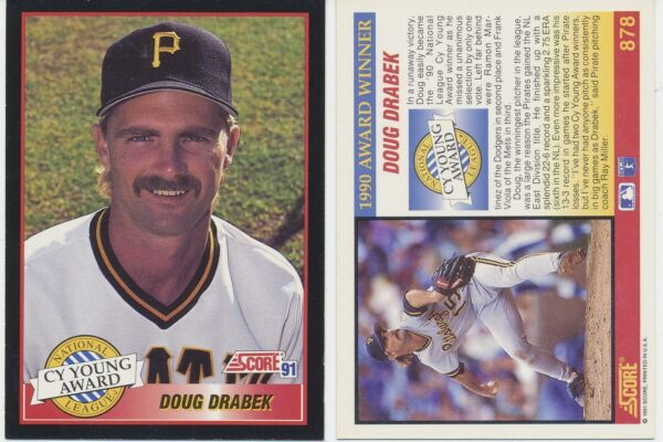 Lot of 12 Doug Drabek Cy Young Award Score 91 #878 MLB Baseball cards NMMint