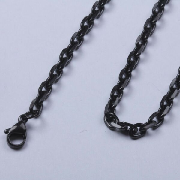 2.0mm 18quot; 40quot; Black Stainless Steel Cross Link Chain Necklace Sb102 USA Seller