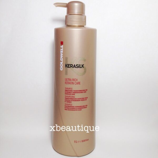 Goldwell Kerasilk Ultra Rich Keratin Care Shampoo liter 33.8 oz