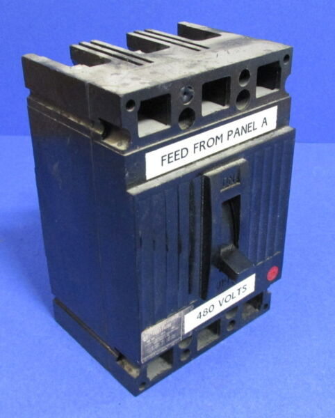 GENERAL ELECTRIC 50A 480V 3P CIRCUIT BREAKER TED134050 $22.79