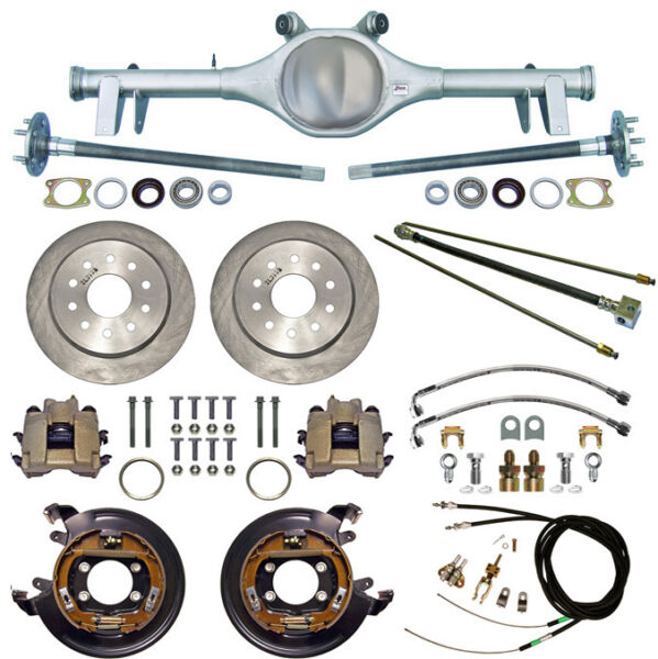 CURRIE 64-66 GM A-BODY REAR END & DISC BRAKESLINESPARKING BRAKE CABLESAXLES+
