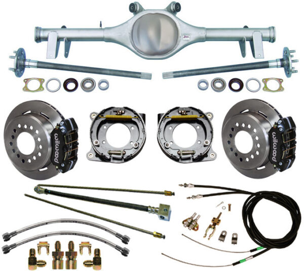 CURRIE 64-66 GM A-BODY REAR END & WILWOOD DISC BRAKESLINESE-BRAKE CABLESAXLES