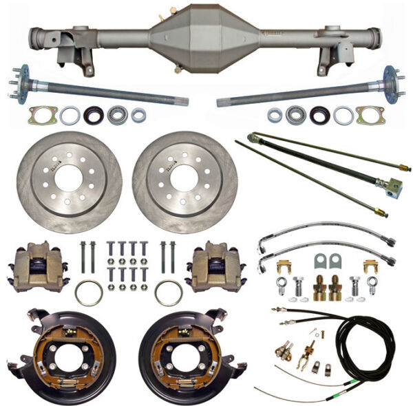 CURRIE 82-92 GM F-BODY REAR END & DISC BRAKESLINESPARKING BRAKE CABLESAXLES+