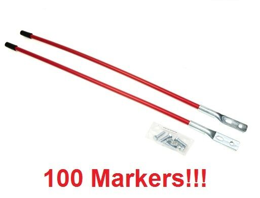 (100) Universal SNOW PLOW BLADE MARKER GUIDES for Boss MSC01870 Western 62265