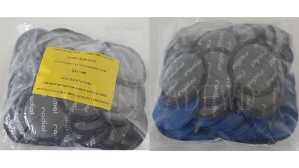 100 Pieces Radial Repair Round Tire Patch Medium 2.1/4