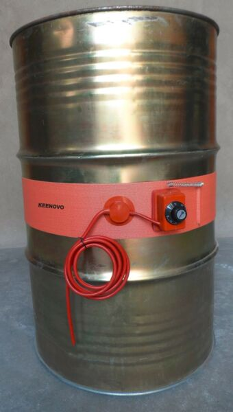 1500W 120V 125mmX1740mm Oil Drum Heater 200L55Gal Pail Barrel Heating Band Belt