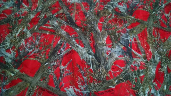 MC2 Red Camo Cotton Poly Water Repellent Twill Fabric 60quot;W Bty Camouflage Dwr