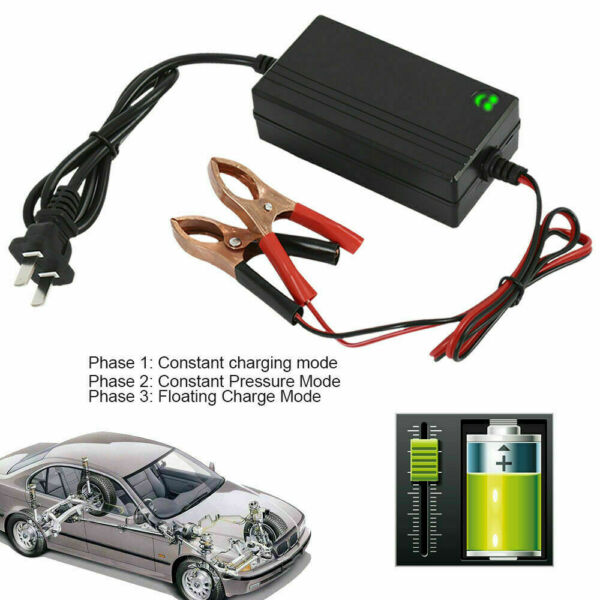6V 12V Auto Battery Charger Motorcycle Trickle Float For Tender Maintainer Car $8.99
