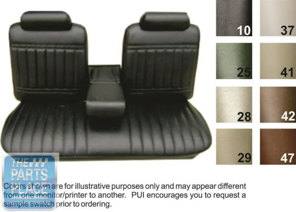 1971 72 Skylark 350 Custom GS Black Bench W Armrest Seat Covers PUI