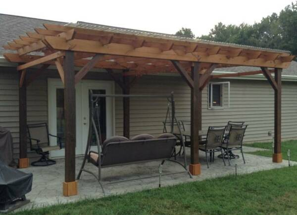 Covered Pergola Plans Design DIY How to build 12'x24' Step by Step Instructions