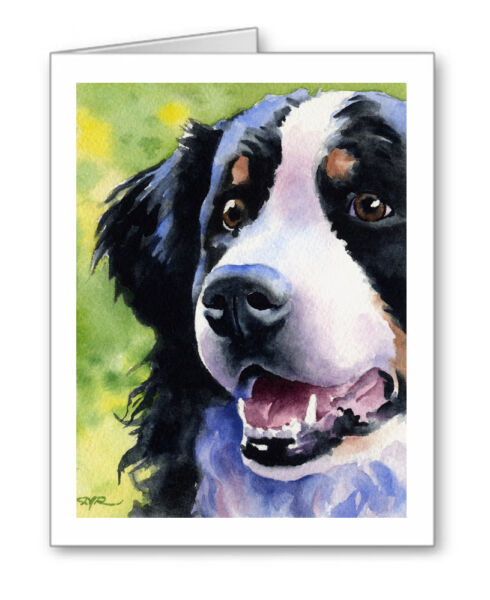 BERNESE MOUNTAIN DOG Set of 10 Note Cards With Envelopes