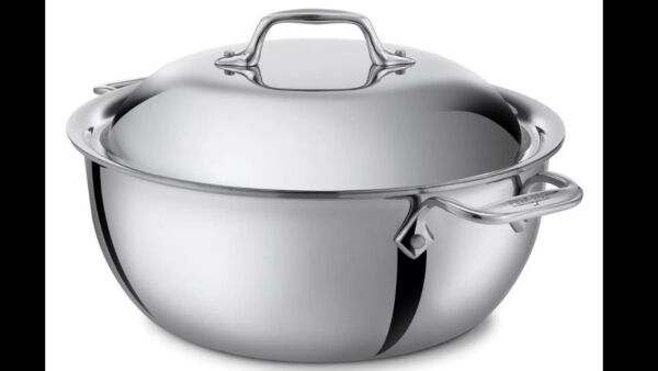 All-Clad Stainless Steel Tri-Ply 5.5 Quart Dutch Oven wLid