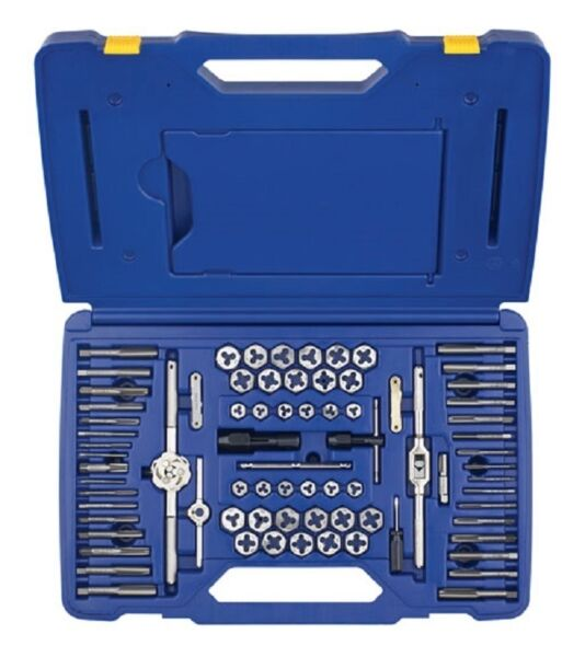 Irwin Hanson 26376 76 Pc. Combination SAE and Metric Tap and Die Set