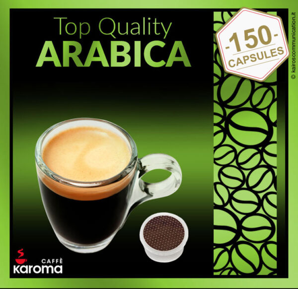 150 Capsules Compatible WLavazza Espresso Point. 100% Top Quality Arabica