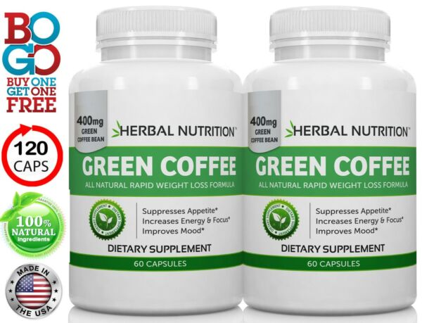BOGO! Green Coffee Bean Extract 800mg Two For One Sale- All Natural Weight Loss